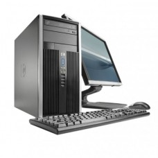 Pachet PC+LCD HP 6000 Tower, Intel Core 2 Duo E8400 3.30GHz, 2GB DDR3, 160GB HDD, DVD-ROM, Second Hand