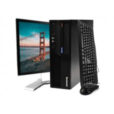 Pachet PC+LCD LENOVO M58 Desktop, Intel Core 2 Duo E5200 2.50Ghz, 2Gb DDR3, 160Gb HDD