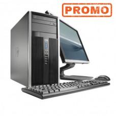 Pachet Calculator cu Monitor HP 6000 Tower, Intel Pentium E5800 3.20GHz, 4GB DDR3, 250GB SATA, DVD-RW, Second Hand