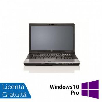 Laptop FUJITSU SIEMENS E752, Intel Core i5-3210M 2.50GHz, 4GB DDR3, 120GB SSD, DVD-RW, 15.6 Inch, Fara Webcam + Windows 10 Pro