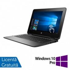 Laptop HP ProBook x360 11 G1, Intel Celeron N3350 1.10GHz, 4GB DDR3, 120GB SSD, TouchScreen, Webcam, 11 Inch + Windows 10 Pro