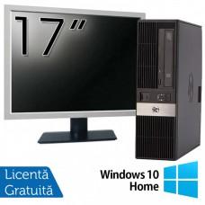 Pachet Calculator HP RP5800 SFF, Intel Core i5-2400 3.10GHz, 4GB DDR3, 250GB SATA, DVD-ROM, 2 Porturi Com + Monitor 17 Inch + Windows 10 Home