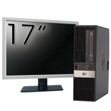 Pachet Calculator HP RP5800 SFF, Intel Core i5-2400 3.10GHz, 4GB DDR3, 250GB SATA, DVD-ROM, 2 Porturi Com + Monitor 17 Inch