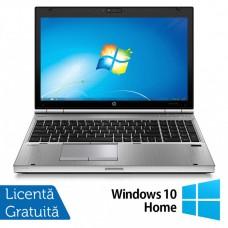 Laptop HP EliteBook 8570p, Intel Core i7-3520M 2.90GHz, 4GB DDR3, 120GB SSD, DVD-RW, 15.6 Inch HD+, Webcam, Tastatura Numerica + Windows 10 Home