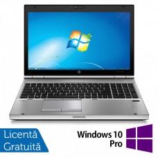 Laptop HP EliteBook 8570p, Intel Core i7-3520M 2.90GHz, 4GB DDR3, 120GB SSD, DVD-RW, 15.6 Inch HD+, Webcam, Tastatura Numerica + Windows 10 Pro
