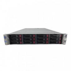 Server Storage/CHIA-Coin Farming, HP ProLiant DL380p G8 2U, 2x Intel Deca Core Xeon E5-2660 V2 2.20GHz - 3.00GHz, 128GB DDR3 ECC, 12 x 4TB HDD SAS/7.2K, Raid P420/1GB, iLO4 Advanced, 2 Port x10 Gigabit SFP, 2xSurse Hot Swap
