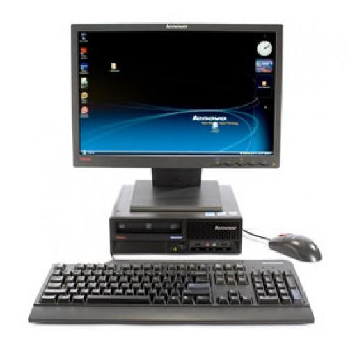 Calculator SH Lenovo M57p (6073), Intel Celeron 2.60Ghz, 2Gb DDR2, HDD 80Gb SATA, DVD-RW cu Monitor LCD ***