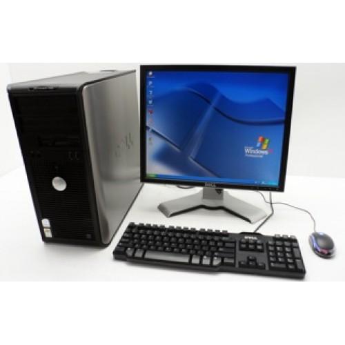 Dell OptiPlex 760 Tower, Intel Core 2 Duo E7500, 2.93Ghz, 2Gb DDR2, 160Gb, DVD-RW cu Monitor LCD