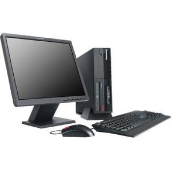 Pachet PC+LCD Lenovo M57p SFF, Intel Core 2 Duo E6400, 2.13Ghz, 4Gb DDR2, HDD 80Gb SATA, DVD