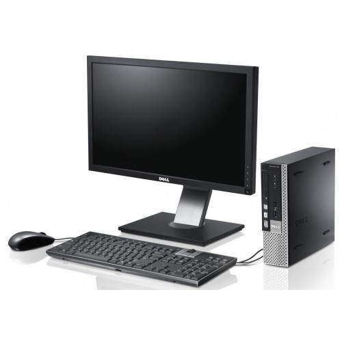 Sistem PC Dell Optiplex 780 USFF Intel Core2Duo E8400 3.0GHz, 4GbDDR3, 160GbHDD, DVD cu monitor LCD