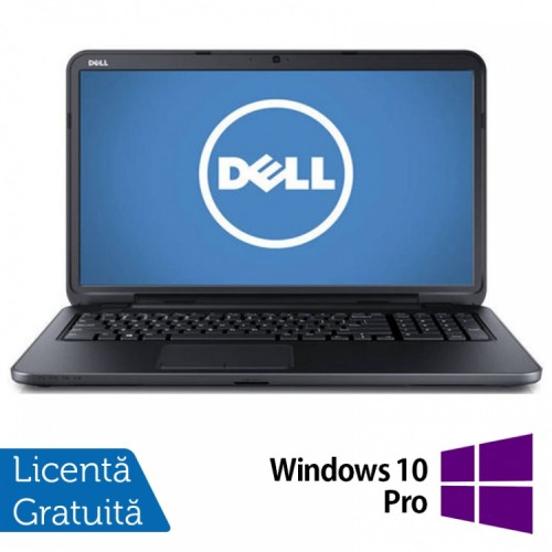 Laptop DELL Inspiron 3721, Intel Core i3-3227U Generatia a 3-a 1.90GHz, 4GB DDR3, 500GB SATA, DVD-RW, 17.3 inch + Windows 10 Pro