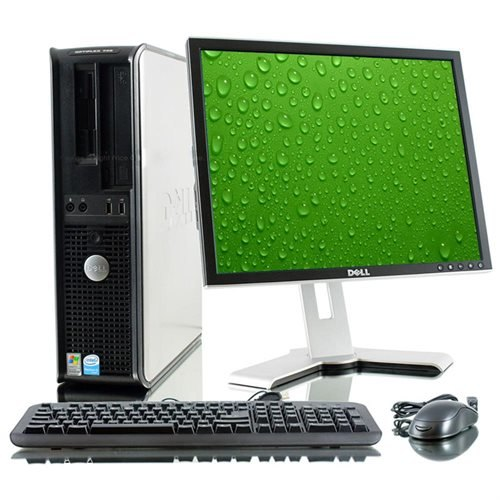 Pachet PC+LCD Dell OptiPlex 760 Desktop, Intel Core 2 Duo E8400, 3.00Ghz, 2Gb DDR2, 320Gb Hdd, dvd-rw