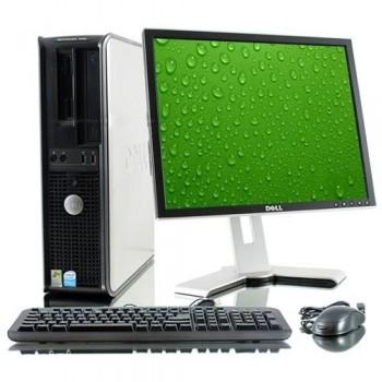 Pachet PC+LCD Dell OptiPlex 380 Desktop, Intel Core 2 Duo E6750, 2.67Ghz, 2Gb DDR2, 160Gb HDD, DVD