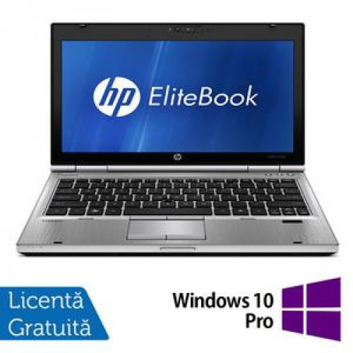 Laptop HP EliteBook 2560P, Intel Core i5-2410M 2.30GHz, 4GB DDR3, 250GB SATA, DVD-RW + Windows 10 Pro