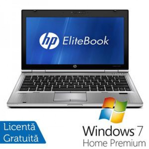 Laptop HP EliteBook 2560P, Intel Core i5-2410M 2.30GHz, 4GB DDR3, 320GB SATA, DVD-RW + Windows 7 Home Premium