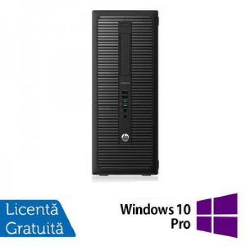 Calculator HP EliteDesk 800G1 Tower, Intel Core i7-4770 3.40GHz, 8GB DDR3, 500GB SATA, DVD-RW + Windows 10 Pro