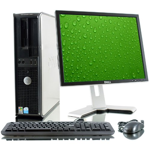 Pachet unitate PC Dell Optiplex 745 Desktop, Intel Dual Core E2160 1.80Ghz, 2Gb DDR2, 80Gb, DVD-ROM cu monitor LCD