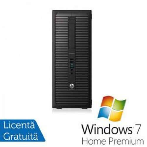 Calculator HP EliteDesk 800G1 Tower, Intel Core i7-4770 3.40GHz, 8GB DDR3, 500GB SATA, DVD-RW + Windows 7 Home Premium
