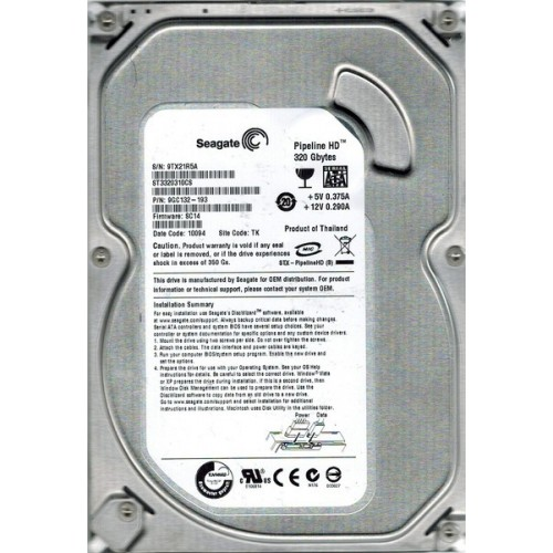Hard Disk Nou Seagate Pipeline HD ST3320310CS 320Gb SATA II, 8Mb buffer, 3.5 inch