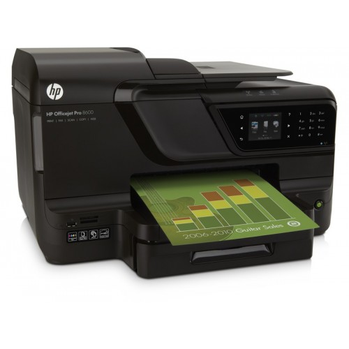 Imprimanta Color SH Cerneala HP OfficeJet 8600 Pro, 18 ppm, USB, Modem, Retea, Duplex, 1200 x 600 dpi