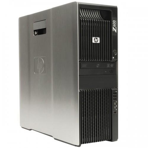 Statie Grafica HP Z600, Intel Xeon Quad Core E5506 2.13GHz 4Mb Cache, 24Gb DDR3 ECC, 120GB SSD + 2TB SATA, DVD-ROM