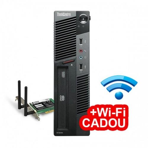 Calculator LENOVO Thinkcentre M91P USFF, Intel Core i5-2400s 2.50GHz, 4GB DDR3, 500GB SATA, DVD-RW + Wi-Fi