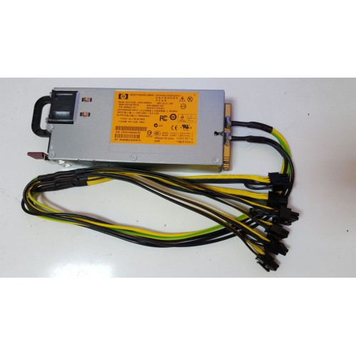Sura pentru Minat HP DPS-750 RP 750w 62.5A EFICIENTA de 94% cu 6 mufe PCI-Ex.: 3 x (6+2 - Pin) si 3 x (6 - Pin)