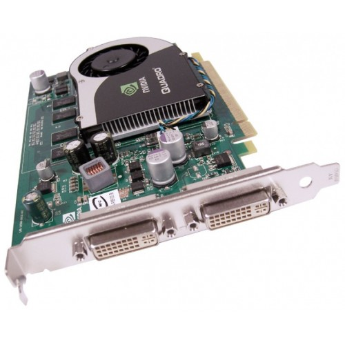 Placa video PCI-E NVIDIA Quadro FX370, 256MB, 64bit, 2xDVI, High Profile