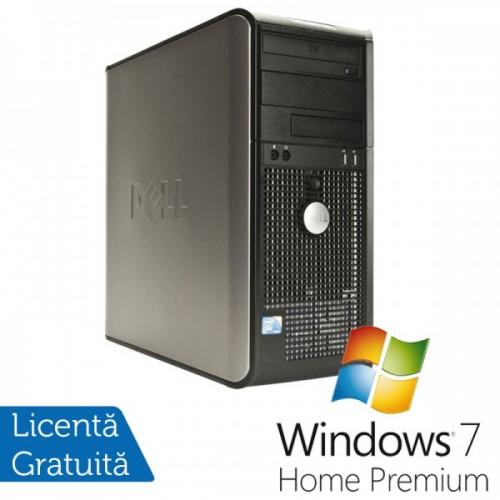 Unitate PC Dell Optiplex GX760, Intel Core 2 Duo E8400 3.0Ghz, 4Gb DDR2, 160Gb HDD, DVD-ROM + Windows 7 Home Premium