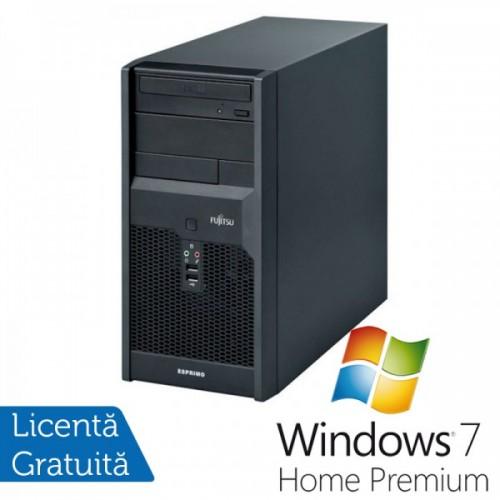 Calculatoare Fujitsu P3521, Intel Core 2 Duo E8400, 3.0GHz, 4Gb DDR3, 320Gb SATA, DVD-RW + Windows 7 Home Premium