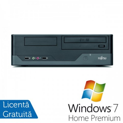Fujitsu Esprimo E3521, Intel Core2 Quad Q6600 2.40GHz, 4GB SATA, 250GB HDD, DVD-ROM + Windows 7 Home