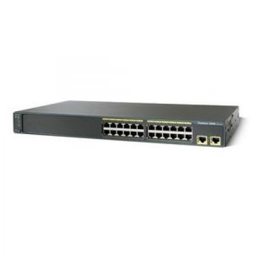 Switch Cisco WS-C2960-24TT-L, 24 porturi Rj-45 10/100, 2 porturi uplink 10/100/1000 TX