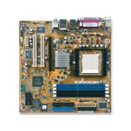Placa de Baza Second Hand Asus A8N-VM/S, Socket 939, PCI-e, DDR1, FireWire + AMD Sempron 3000+ 1.8Ghz