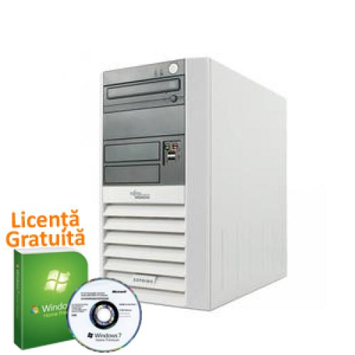 PC SH Fujitsu Esprimo P5600, AMD Sempron 3000+, 1.8Ghz, 1Gb DDR, 40Gb HDD, DVD-ROM + Win 7 Premium