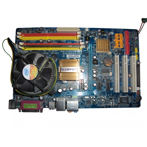 Placa de baza SH  Gigabyte 945PL-S3P, socket 775, PCI Express x16, SATA II, 5.1 Audio + Procesor Intel E5300, 2.6Ghz