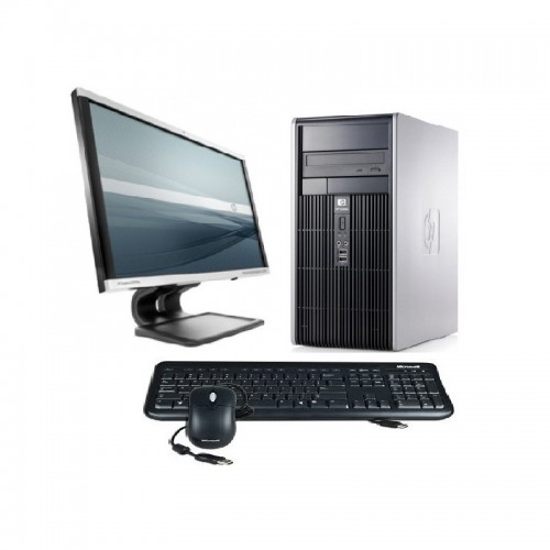 Calculator  HP DC5750 Tower, Sempron 3600+, 2.0GHz, 4Gb DDR2, 80 HDD, DVD-ROM cu monitor LCD