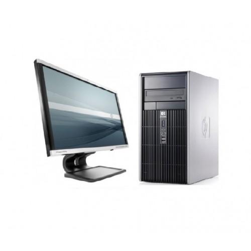 Pachet PC+LCD HP DC5750 Tower, Sempron 3600+, 2.0GHz, 2 GB DDR2, 80 HDD, DVD-ROM