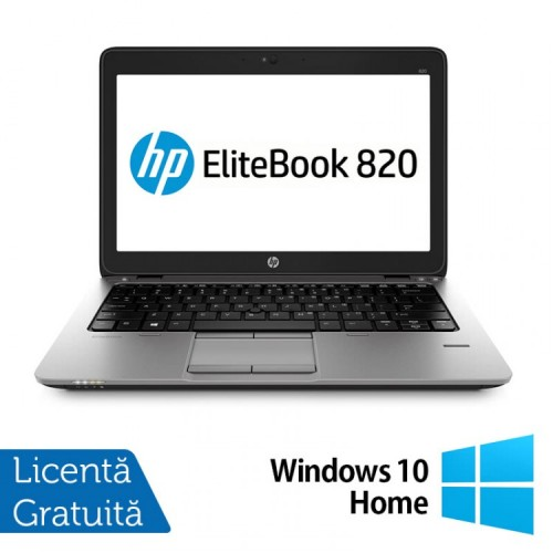 Laptop HP Elitebook 820 G2, Intel Core i5-5200U 2.20GHz, 8GB DDR3, 120GB SSD, 12 Inch + Windows 10 Home, Refurbished