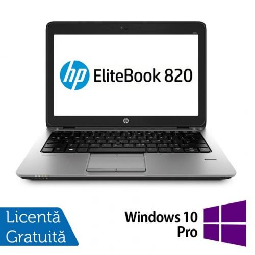 Laptop HP Elitebook 820 G2, Intel Core i5-5200U 2.20GHz, 8GB DDR3, 120GB SSD + Windows 10 Pro, Refurbished