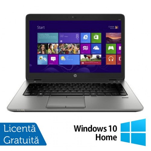 Laptop HP Elitebook 840 G2, Intel Core i5-5200U 2.20GHz, 8GB DDR3, 128GB SSD, 14 Inch, Full HD + Windows 10 Home