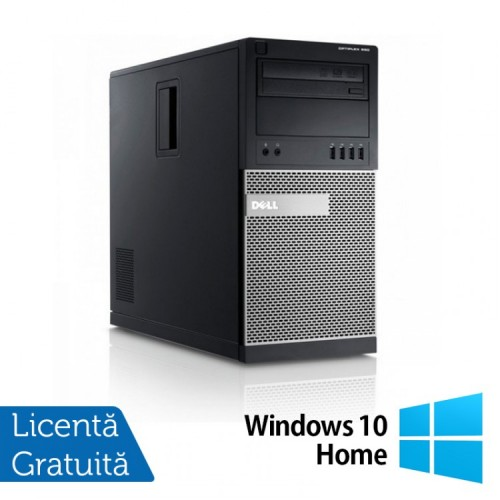Calculator DELL GX990 Tower, Intel Pentium Dual Core G645, 2.90GHz, 8GB DDR3, 320GB SATA, DVD-RW + Windows 10 Home