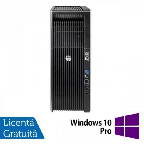 Workstation Refurbished HP Z620, 2x Intel Xeon E5-2620 2.0GHz-2.5GHz HEXA Core, 32GB DDR3 ECC, 1TB HDD + 240GB SSD NOU, nVidia Quadro 2000/1GB GDDR5 + Windows 10 Pro