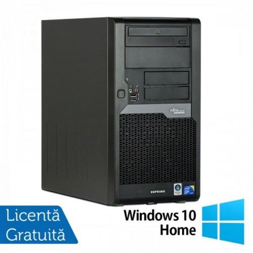 PC Refurbished FUJITSU SIEMENS Esprimo P5730 Tower, Intel Core 2 Duo E7400 2.80 GHz, 4GB DDR2, 160GB SATA, DVD-RW + Windows 10 Home
