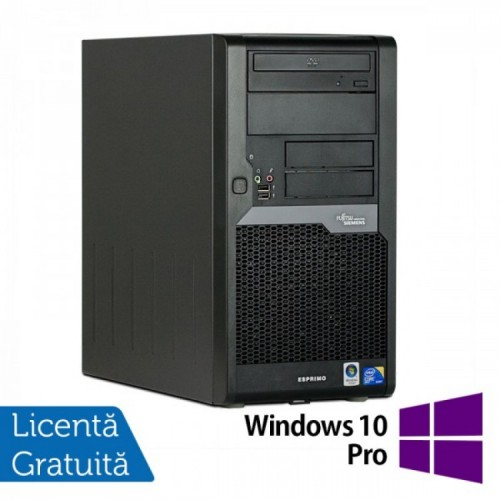 PC Refurbished FUJITSU SIEMENS Esprimo P5730 Tower, Intel Core 2 Duo E8400 3.00 GHz, 4GB DDR2, 250GB SATA, DVD-RW + Windows 10 Pro