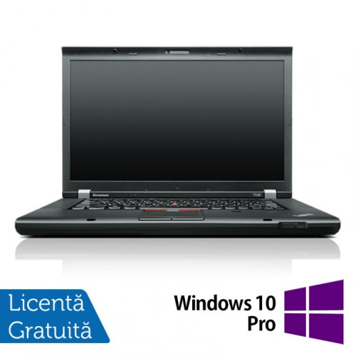 Laptop Refurbished LENOVO ThinkPad T530, Intel Core i5-3320M 2.60 GHz, 4GB DDR3, 320GB SATA, DVD-RW + Windows 10 Pro