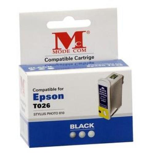 Cartus cerneala, Compatibil  Modecom pentru  Epson T026, Negru, NOU