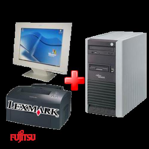 Sistem Office Second  Fujitsu P300,Celeron 2660 Mhz ,1024 Mb,80 Gb + LCD +Imprimanta Lexmark