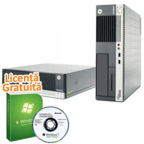 Fujitsu E5625 Refurbished, AMD Athlon 64 x2 4400+ 2.3Ghz, 2GB DDR2, 80GB HDD, DVD-ROM + Windows 7 Premium, Garantie 36 luni