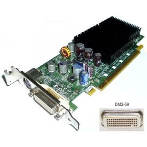 Placa video PCIe, Nvidia GeForce 7300 LE, 256Mb, Low Profile + Adaptor de la DMS-59 la VGA