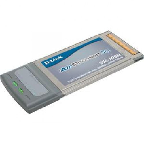 Card Wireless Laptop, D-Link AirPremier AG DWL-AG660, 802.11a/g Tri-Mode Dualband, Type II CardBus